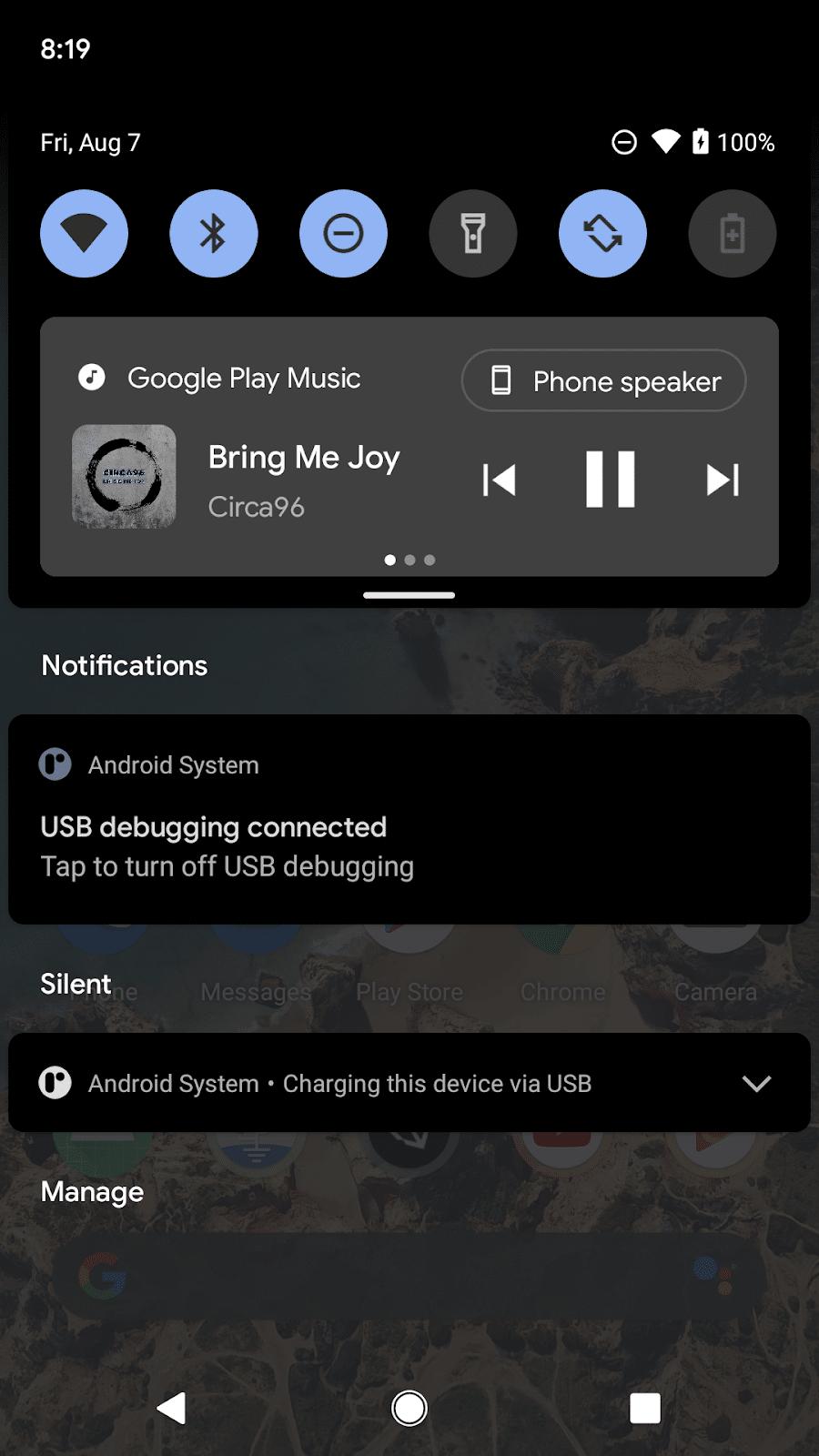 Android 11 - Medienkontrollen