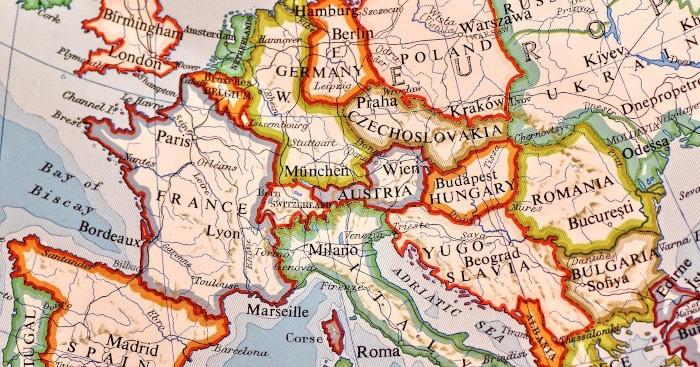 alte karte europa