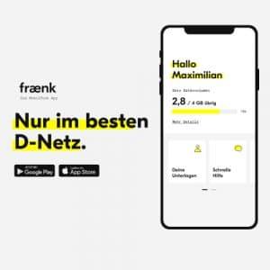 fraenk flat: Der App-Tarif im Telekom-Netz
