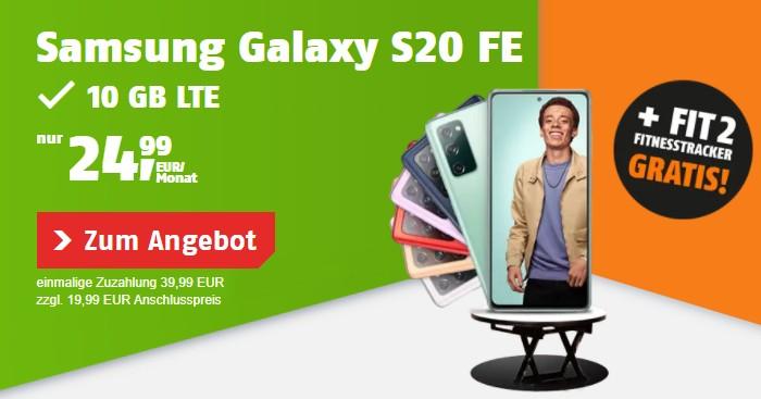 Samsung Galaxy S20 FE + Xbox Gaming Bundle + klarmobil Allnet Flat (Vodafone-Netz) bei klarmobil