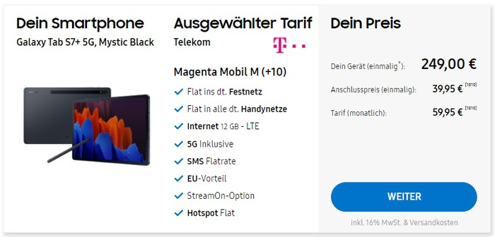 Samsung Galaxy S7 Plus 5G + MOGA XP5-X Plus Gamepad + Telekom MagentaMobil M im Samsung Online Show