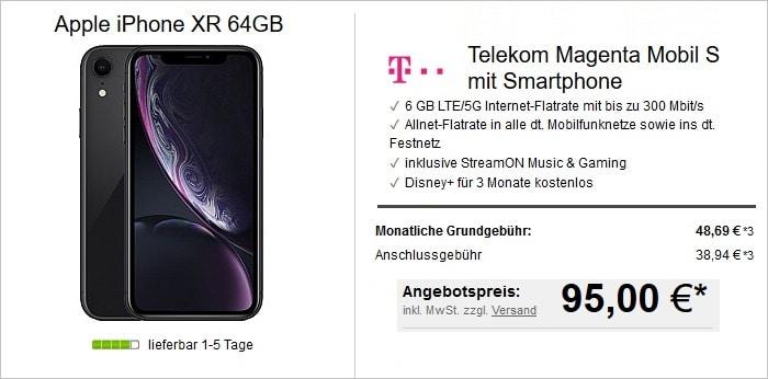 iPhone Xr mit Telekom MagentaMobil S bei LogiTel