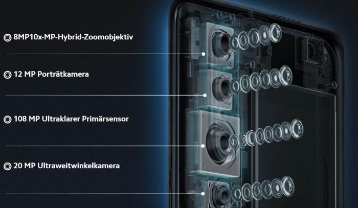Xiaomi Mi 10 Pro mit Vertrag im Vergleich, Handytarif, Tarif, Handyvertrag, Telekom, Vodafone, o2
