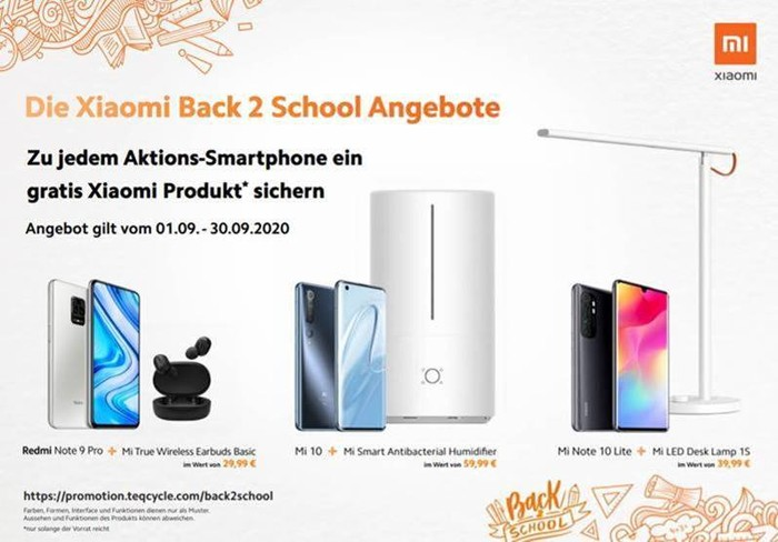 Xiaomi Aktion Back2School 2020