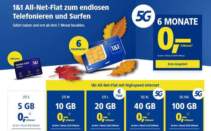 1&1 Allnet Flat mit 5G