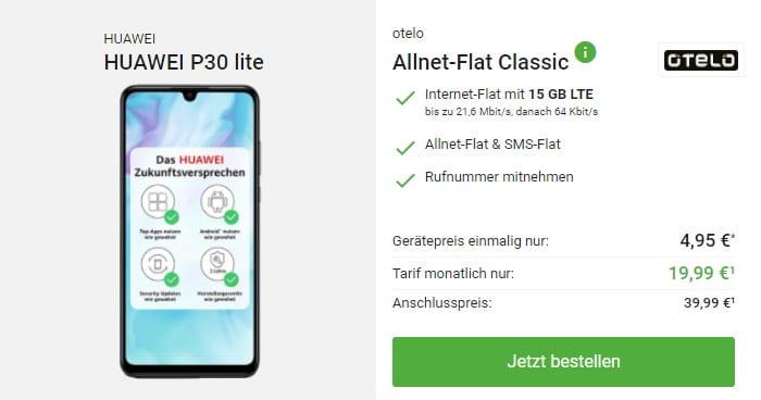 Huawei P30 Lite + otelo Allnet Flat Classic bei DeinHandy