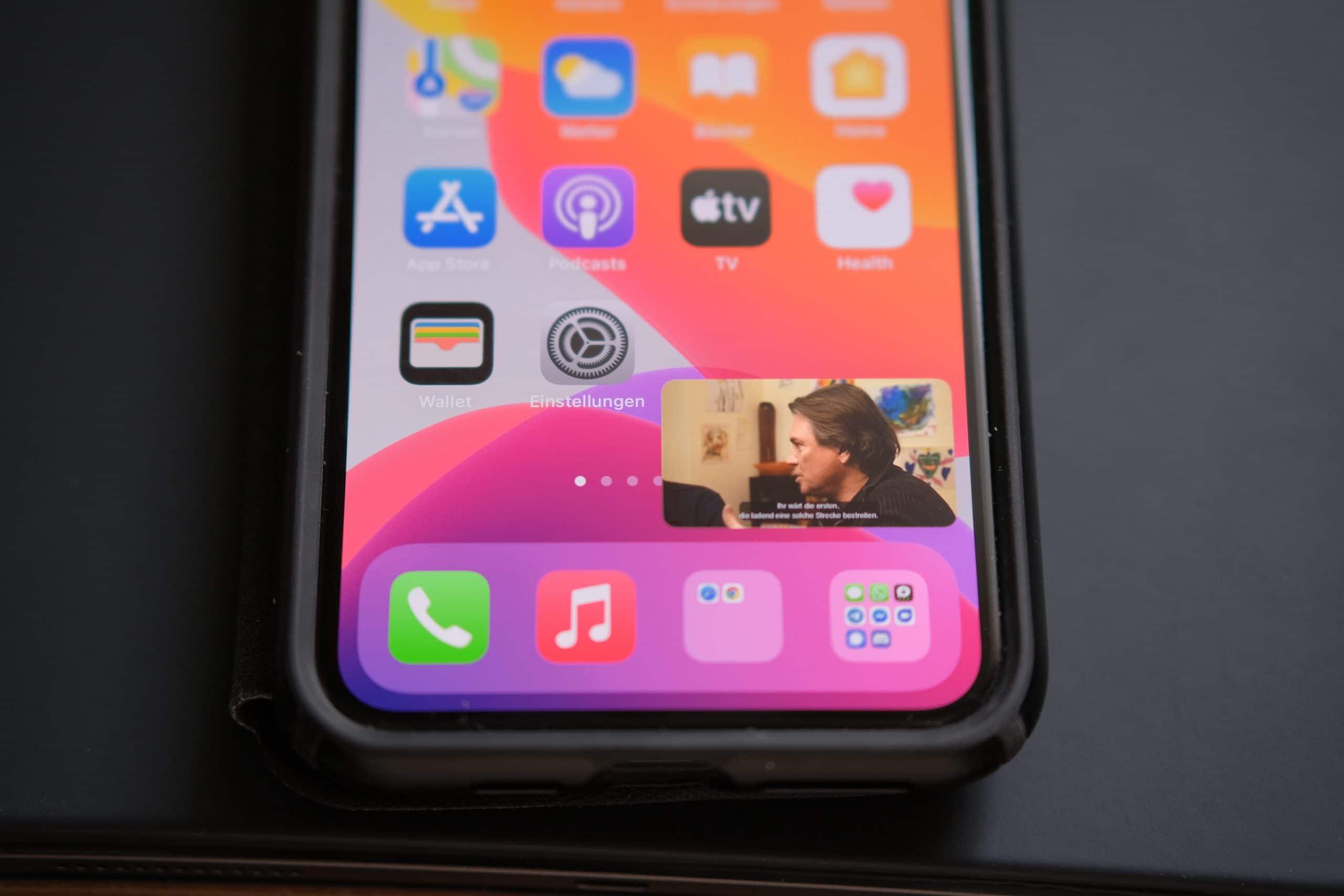 iOS 14 - PIP - small Video