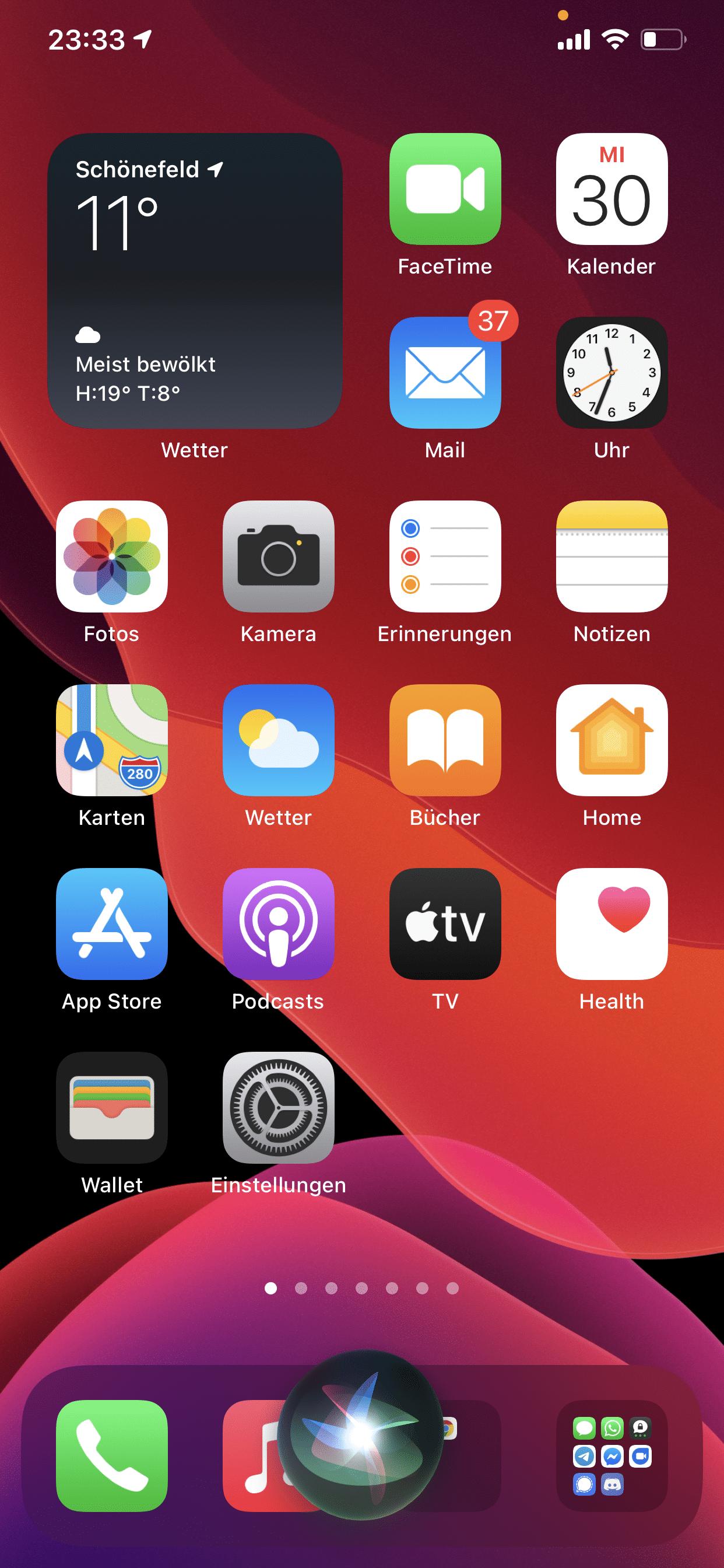 iOS 14 - Siri kompakt