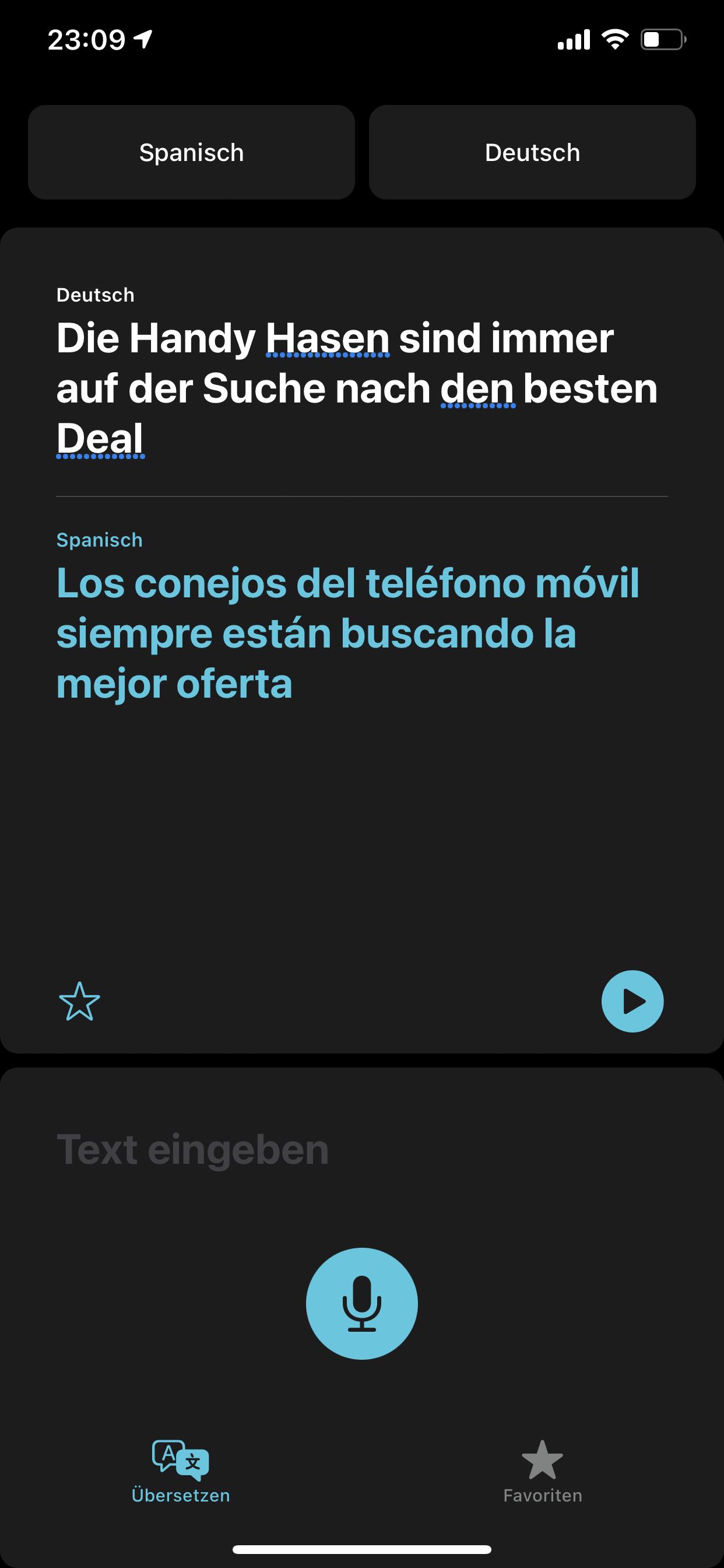 iOS 14 - Übersetzen - Beispiel #2