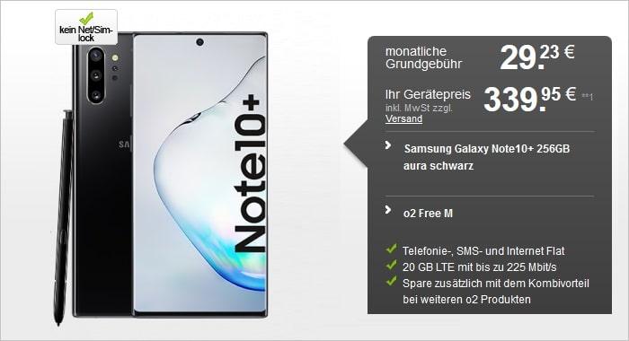 Samsung Galaxy Note 10 Plus mit o2 Free M bei Handyflash