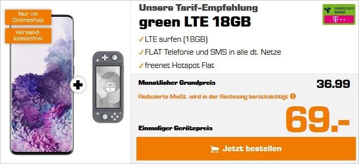 Samsung Galaxy S20 Plus mit Switch Lite zum green LTE im Telekom-Nez bei Saturn