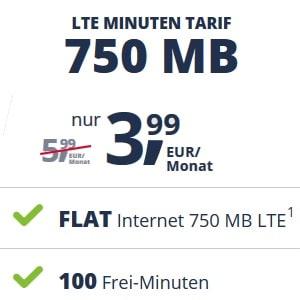 freenet Mobile LTE Minuten Tarif im Telekom-Netz