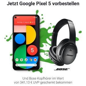Google Pixel 5 mit o2 Free m Boost