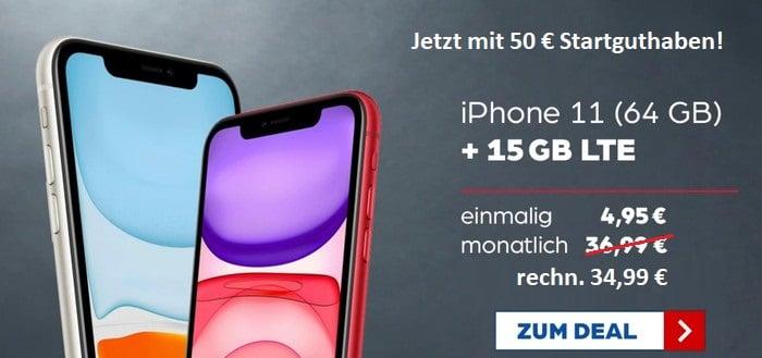 iPhone 11 + Vodafone Smart L Plus bei Preisboerse24 Aktion