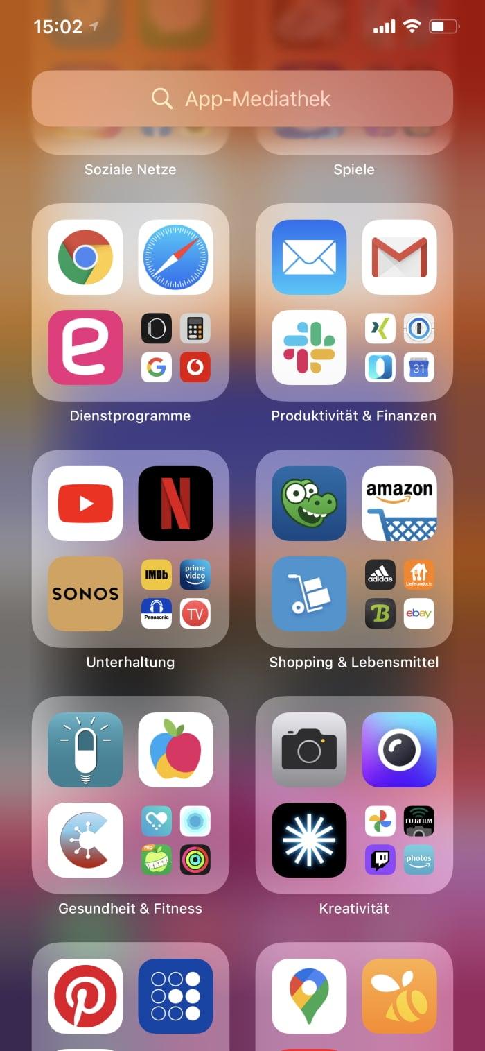 iOS 14 - App-Mediathek