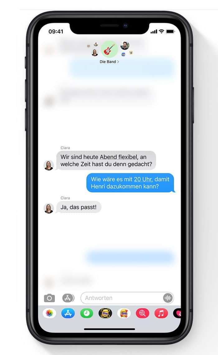 iOS 14 - Direkt Antworten in Chats