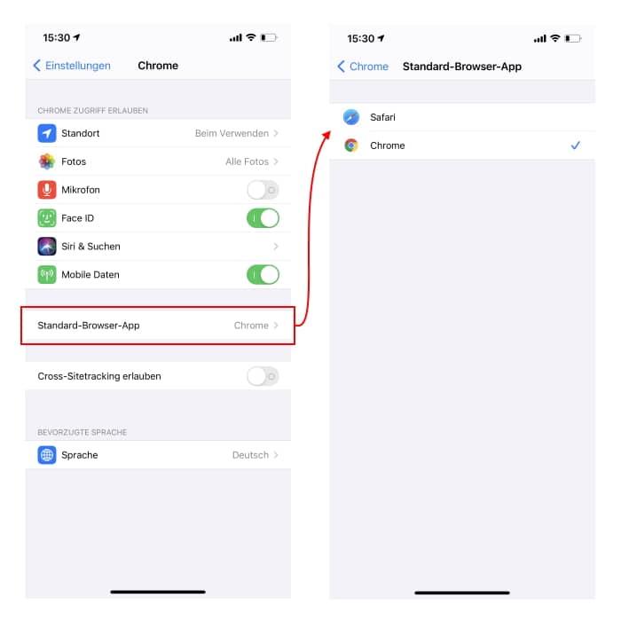 iOS 14 - Standard-Apps einrichten