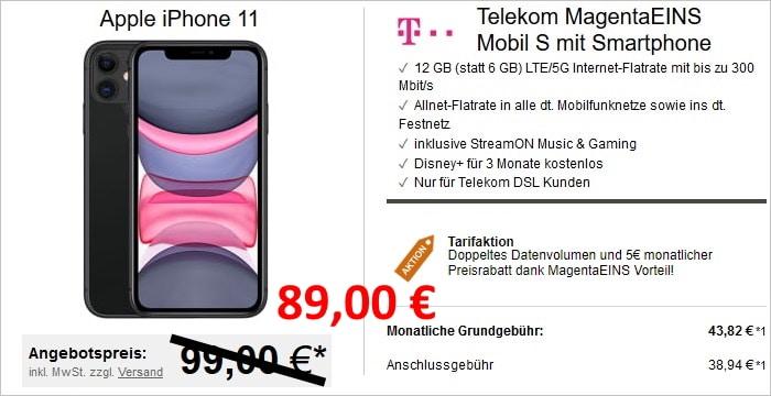 iPhone 11 mit Telekom MagentaEINS