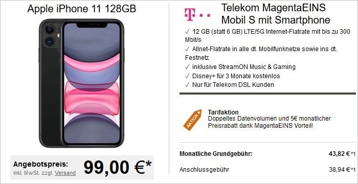 iPhone 11 mit Telekom MagentaMobil S MagentaEINS bei LogiTel