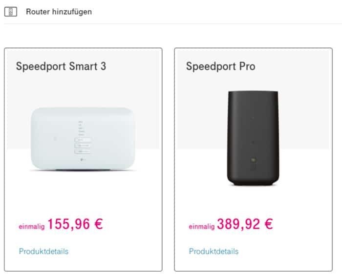 Telekom MagentaEINS Plus Router auswählen