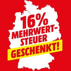 MediaMarkt 16 % Mehrwertsteueraktion