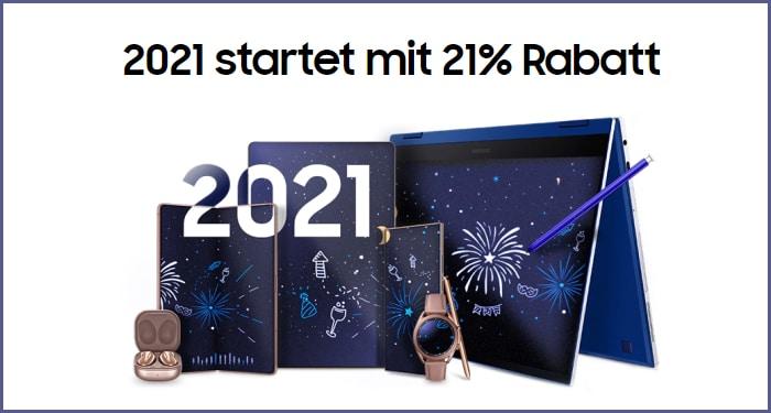 Samsung Neujahrsaktion - 2021 startet mit 21%