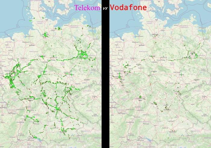 5G-Ausbau Deutschland September 2020, Telekom vs. Vodafone