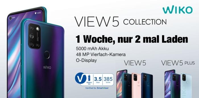 Wiko View5 mit Vertrag und View5 Plus mit Vertrag, Handytarif, Tarif, Vergleich
