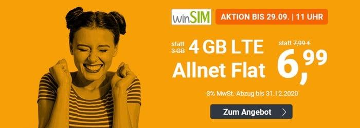 winSIM LTE All 3 GB Aktion September 2020
