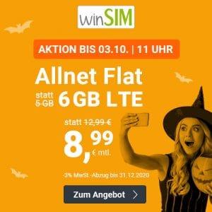 winSIM 6 GB Aktion Oktober 2020