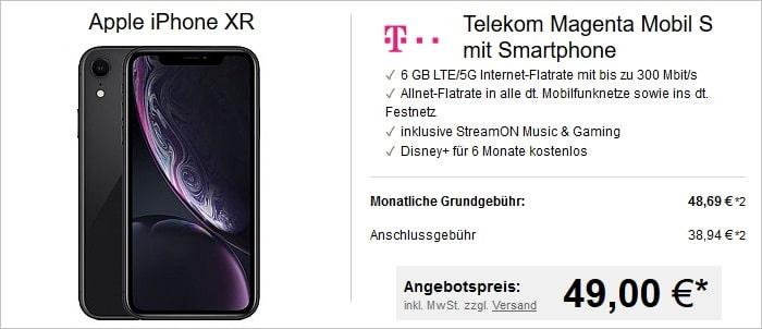 Apple iPhone Xr mit Telekom MagentaMobil S bei LogiTel