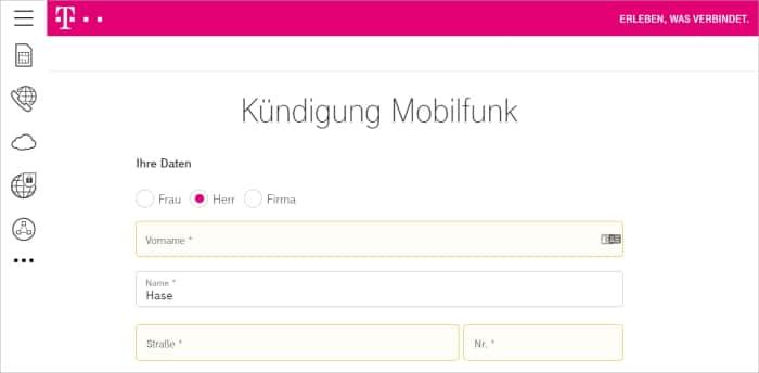 Kündigung Handyvertrag Telekom - So geht's