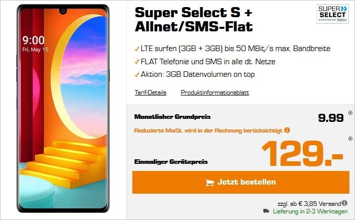 LG Velevet zum Saturn Super Select S mit 6 statt 3 GB LTE bei Saturn