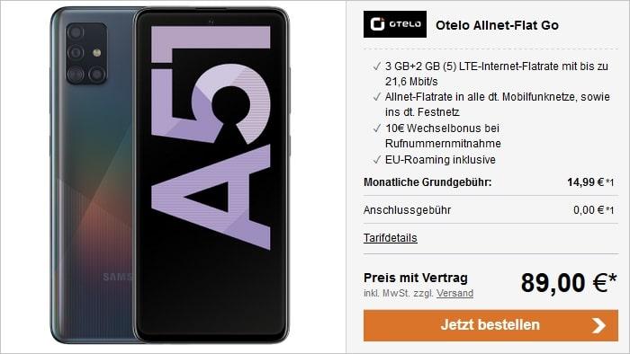 Samsung Galaxy A51 mit otelo Allnet-Flat Go bei LogiTel
