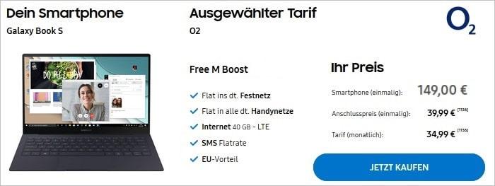 Samsung Galaxy Book S + o2 Free M Boost im Samsung Online-Shop