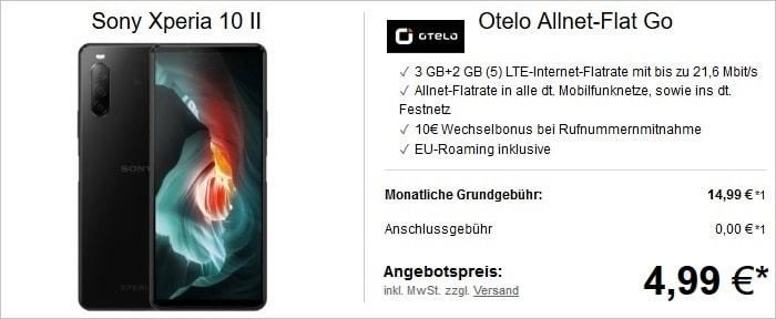 Otelo Allnet-Flat Go mit Sony Xperia 10 II