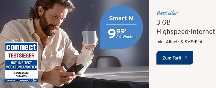 Tchibo mobil Smartphone-Tarife Smart M