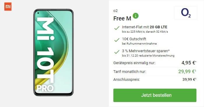 Xiaomi Mi 10T Pro + o2 Free M bei DeinHandy