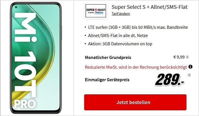 Xiaomi Mi 10T Pro mit Super Select S und 6 GB LTE bei MediaMarkt