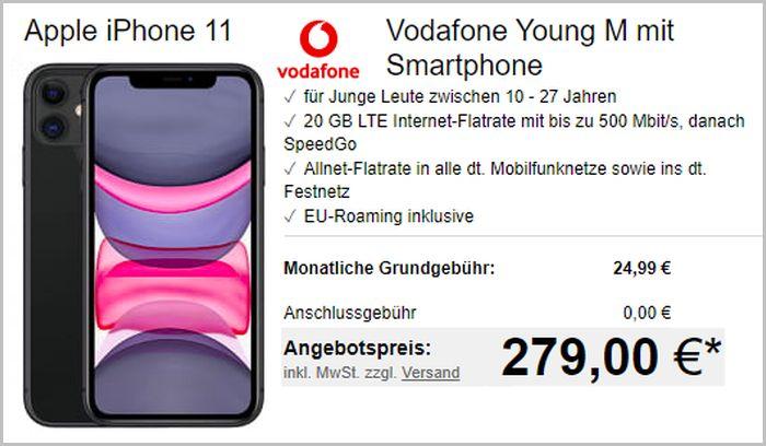 iPhone 11 mit Vodafone Young bei LogiTEL
