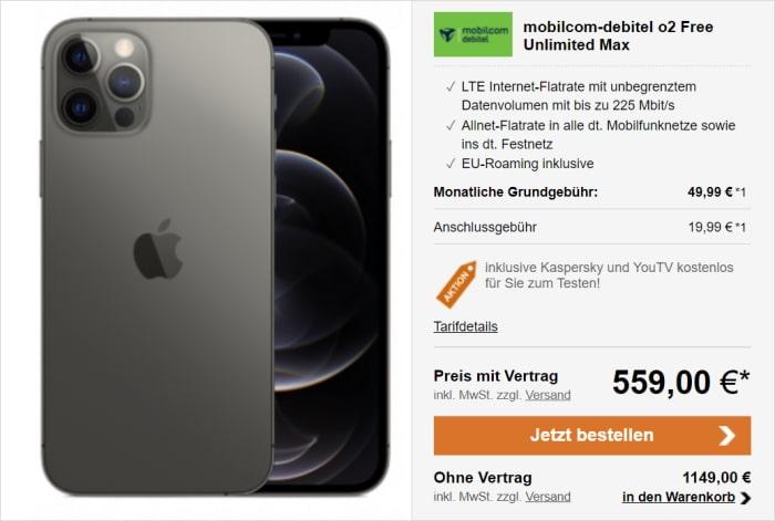 iPhone 12 Pro mit md Free Unlimited Max bei LogiTel