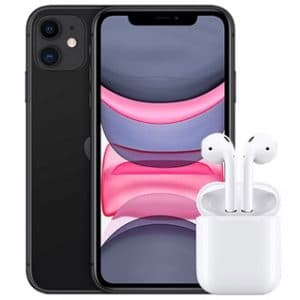 iPhone 11 mit AirPods