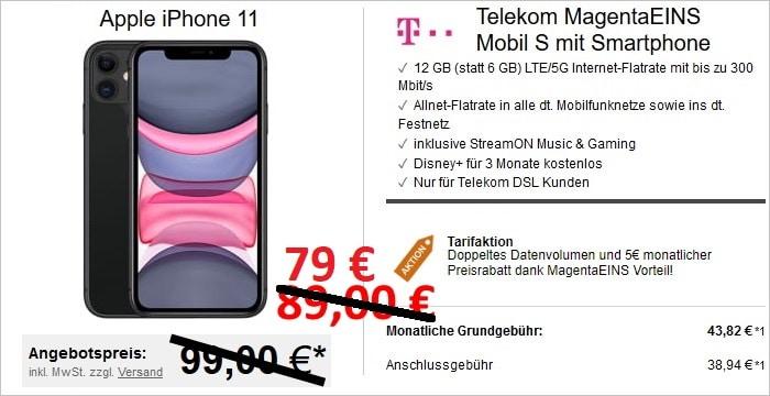 iPhone 11 mit Telekom MagentaEINS S bei LogiTel