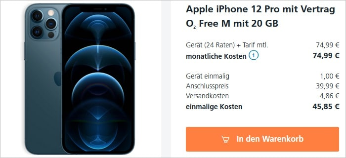 iPhone 12 Pro mit o2 Free M bei o2
