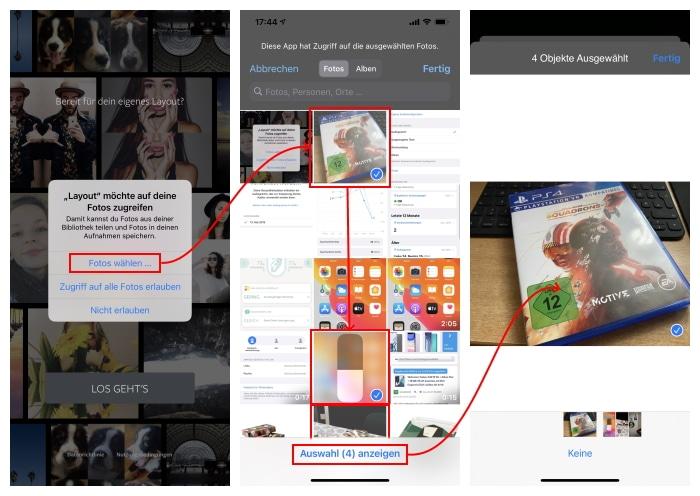iOS 14 - beschränkter Fotozugriff