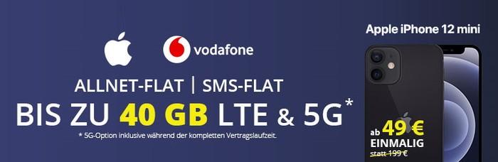 iPhone 12 Mini + Vodafone Smart XL bei FLYmobile