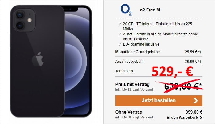 iPhone 12 + o2 Free M bei LogiTel