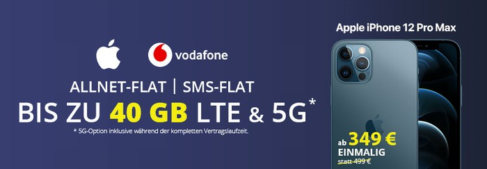 iPhone 12 Pro Max + Vodafone Smart XL bei FLYmobile