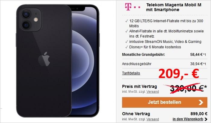 Apple iPhone 12 mit Telekom MagentaMobil M bei LogiTel