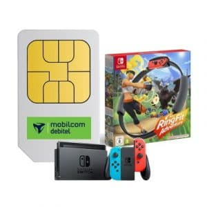 mobilcom-debitel Telefónica Free Unlimited Max + Nintendo Switch (2019) + Nintendo Ring Fit Adventure Thumbnail